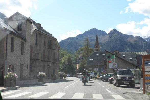 On the road again heading to Galibier for stage 21. (