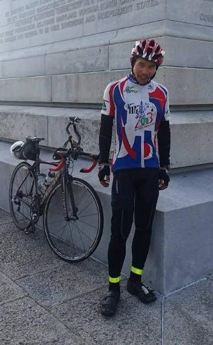 2015 Trans Am racer Felix Wong who started suffering from Shermans Neck from day 13. Photo credit: FelixWong.com