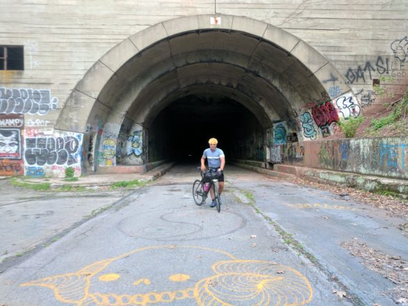 Speaking of freaky these tunnels go on for quite a few kilometers - absolutely pitch black apart from my bike light.