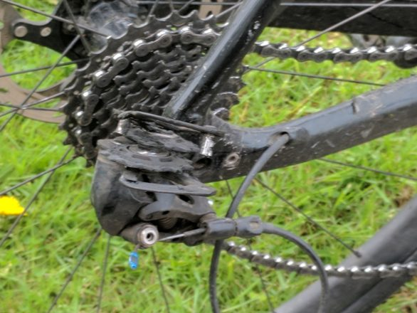 I was desperate to finish within 36 hours - my rear derailleur had other ideas.