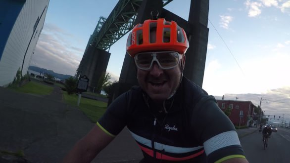 Still from a GOPRO video I took a few hundred metres into the race. I was rather excited!